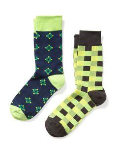 Square Print Socks (2 Pack) by Richer Poorer on Gilt.com