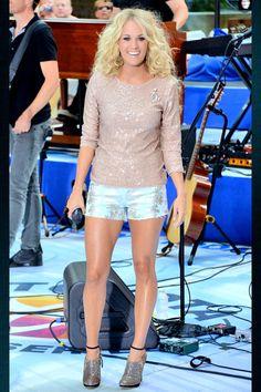 Carrie's legs.