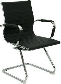 Dsa On 3507 Black Is A Leather Guest Chair Office Chairs