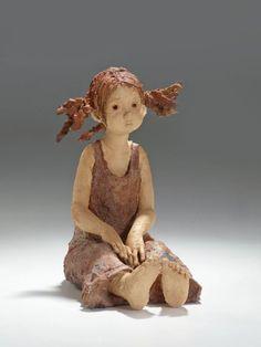 Ceramic Figures, Clay Figures, Ceramic Art, Pottery Sculpture, Sculpture Clay, Pottery Clay, Clay Dolls, Art Dolls, Sculptures Céramiques