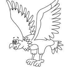Eagle to color in - Coloring page - ANIMAL coloring pages - BIRD coloring pages - EAGLE coloring pages