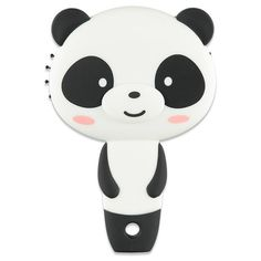 Forever21 Panda Hair Brush ($4.90) ❤ liked on Polyvore featuring beauty products, haircare, hair styling tools, brushes & combs, forever 21, hair brush comb and hair brush