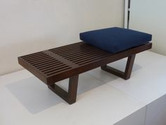 Mid Century Platform Bench or Coffee Table Slat Coffee Table Mid Century Coffee Table In the Style of George Nelson Slat Bench Walnut Bench by XcapeVintage on Etsy https://www.etsy.com/listing/200249533/mid-century-platform-bench-or-coffee