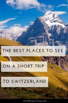 Switzerland is gorgeous. But it can be expensive. However if this is your dream then you should go! You just need to plan a shorter trip to maximize your time and budget. And you may want to splurge a bit. Click through to find out more.