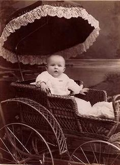 Victorian Baby in Carriage