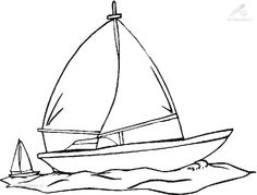 New Boat Coloring Page