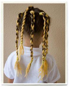 DIY KIDS : Beehive FUN HAIR FOR CRAZY SCHOOL HAIR DAY OR HALLOWEEN !