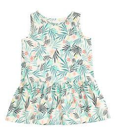 Jerseykleid | Naturweiß/Blatt | Kids | H&M DE