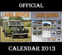#LANDROVER OFFICIAL #CALENDAR #2013 + FREE LAND ROVER FRIDGE MAGNET