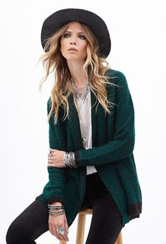 Two-Tone Knit Cardigan | FOREVER21 - 2000130097