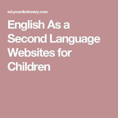 One of the most important features of many English As a Second Language websites for children is that many are interactive. Sign Language For Kids, British Sign Language, Second Language, English Help, English Lessons, English Teaching Materials, Teaching English, Ell Strategies, Co Teaching