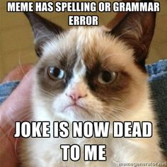 .LOL So many times I can't post something I find funny for that reason - or I google until I find one without the error.  Yeah, it is a sickness.