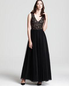 Aidan Mattox Gown - Double V Sequin | Bloomingdale's