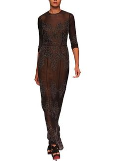 Indian Fashion Designers - Sougat Paul -  Refined Black Embroidered Gown