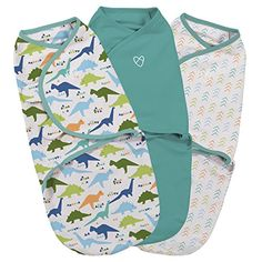 SwaddleMe Original Swaddle 3-PK, Origami Dino (SM) - SwaddleMe Original Swaddle adjustable infant wrap has secure hook and loop closures for easy, safe swaddling. We know that when baby sleeps better, you sleep better, and our full line of wearable sleep products has been designed and tested to keep babies snug, safe, and comfy every night througho...