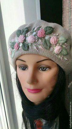 Lina design - Galina Ryab, found on livemaster. Wool Embroidery, Hand Embroidery Patterns, Knitting Patterns, Sweater Embroidery, Crochet Dolls, Knit Crochet, Crochet Hats, Mode Crochet, Brazilian Embroidery