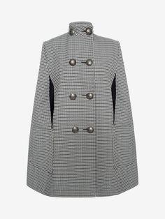Double Breasted Military Cape