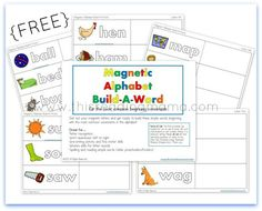 FREE Magnetic Alphabet Build-a-Word for PreK/K | This Reading Mama