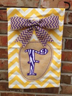 Love This!  Personalized LSU Garden Flag