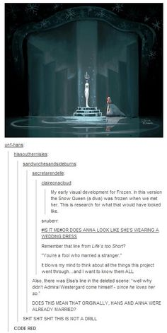 Frozen - Soooo cool! And also terrible. Because Hans. No.