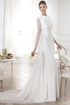 Enjoy this post of pronovias wedding dresses with sleeves! Today my post is all about fashionable and trendy pronovias wedding dresses with sleeves Muslim Wedding Dresses, Wedding Dresses 2014, Designer Wedding Dresses, Wedding Attire, Bridal Dresses, Wedding Gowns, Bridesmaid Dresses, Muslim Brides, Dresses 2016