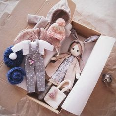 #lerusha #handmade #doll Tiny Dolls, Soft Dolls, Cute Dolls, Raggy Dolls, Soft Toys Making, Homemade Dolls, Fabric Toys, Sewing Dolls, Doll Maker
