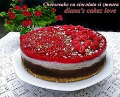 diana's cakes love: Cheesecake cu ciocolata si zmeura Biscuit, Cheesecake, Desserts, Tailgate Desserts, Deserts, Cheesecakes, Postres, Crackers, Dessert