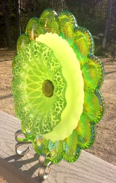 Repurposed Vintage Glass Plate Suncatcher by BorealisBlooms, $149.00