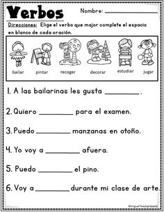 Nouns and Verbs BUNDLE. Practice nouns and verbs in a fun and engaging way with this new bundle. First grade grammar activities. First grade nouns and verbs activities. Kinder nouns and verbs activities. Nouns And Verbs Worksheets, Spanish Worksheets, English Grammar Worksheets, 1st Grade Worksheets, Spanish Grammar, Reading Worksheets, Good Grammar, Grammar Practice, Teaching Verbs