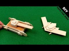 Popsicle stick Toys for kids | Miniature Tank & Triangle Aircraft - YouTube