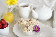 Muffins de grosellas y semillas de amapola
