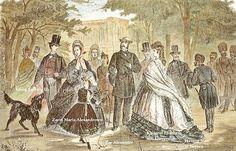 Treffen mehrerer Adeligen  König Ludwig II von Bayern, Kaiserin Elisabeth von Österreich, Zarin Maria, Zar Alexander, Herzog Max in Bayern