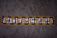 Steelers letter wallhanging