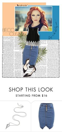 """""""Untitled #153"""" by iris03015 ❤ liked on Polyvore featuring 3.1 Phillip Lim, denim, skirt, Sheinside and shein"""