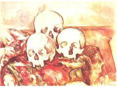 """Still life with Three Skulls, Paul Cézanne c.1903"""