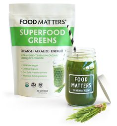 Food Matters Superfood Greens - Cleanse. Alkalize. Energize.  #foodmatters #fmsuperfoods #superfoodgreens