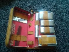 mens vanity case  brown suede with chrome fittings by wrightjewels, £15.00