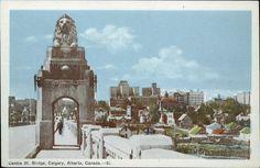 Postcard 5816: Photogelatine Engraving Co, Centre St. Bridge, Calgary, Alberta, Canada. ([after 1940])
