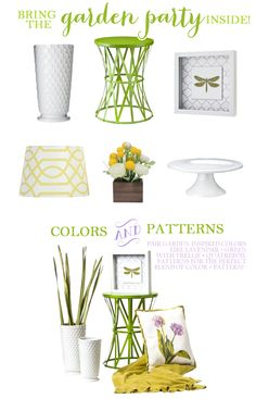 Bring the garden party inside with Target home decor! #spring