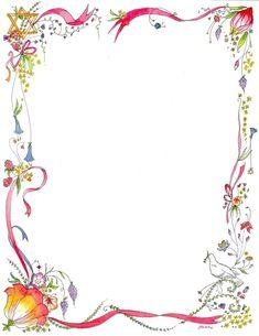 Book Border Template Latest Flower Green Border Design Hd 2013