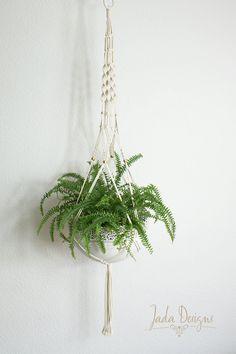 """Makramee Blumenampel 135 cm / Macrame planthanger 53"""" von byJadaDesigns auf Etsy"""