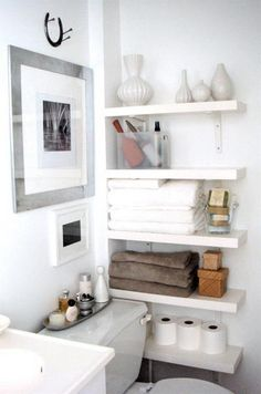 best small bathroom storage ideas for . We've already done the work for you when it comes to finding and curating small bathroom storage ideas. Bathroom Storage Solutions, Small Bathroom Storage, Small Bathrooms, Small Storage, White Bathrooms, Kitchen Storage, Bedroom Storage Ideas For Small Spaces, Kitchen Ideas For Small Spaces, Bathroom Makeup Storage