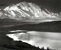 "Ansel Adams, ""Mount McKinley and Wonder Lake, Denali National Park and Preserve, Alaska,"" 1947 The Minnesota Marine Art Museum is located on banks of the Mississippi River at 800 Riverview Drive, Winona, 507-474-6626 or www.mmam.org."