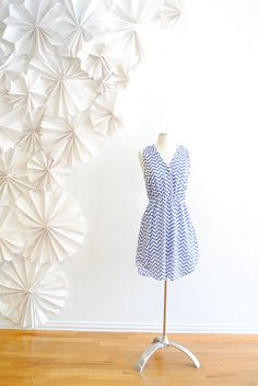Zooey chevron dress- blue