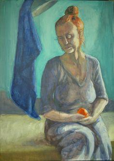 Portret p Steni,  Jan Markiewicz, olej na płótnie, 50 x 70 cm, 2015