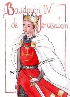 A la mort de son père, Baudouin IV n'a que 13 ans. Il devient le plus jeune roi de Jérusalem.