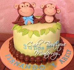 Monkeys cakehttps://www.facebook.com/pages/Cake-Boutique-Monterrey/514234455315019