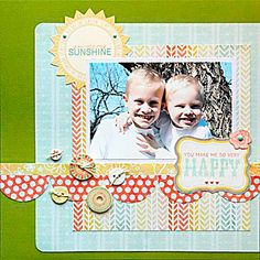 Monthly Scrapbooking Layout Kit Club at The ScrapRoom - www.scrap-room.com. Lots of good ideas and sketches here