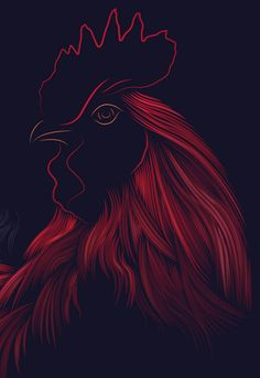 Le coq by Patrick Seymour, via Behance Patrick Seymour, Black Cook, Chicken Art, Chickens And Roosters, Photo Transfer, Still Life Art, Black Art, Farm Animals, Anime Guys