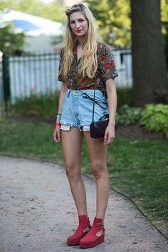 Music festival style: Street style on the girls of Pitchfork
